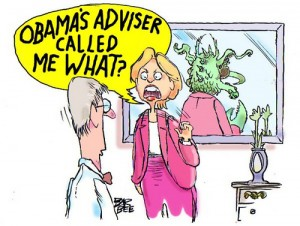 Hillary Clinton - Political toons by Joel Barbee