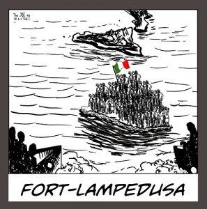 Fort-Lampedusa - Illustrazione di Francesco Elisei