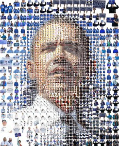 Barack Obama: A mosaic of people - Illustrazione di Charis Tsevis